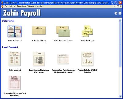 menu Zahir Payroll